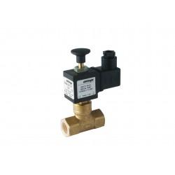 Electrovanne gaz à réarmement manuel NF laiton 1/2\' 600mBar