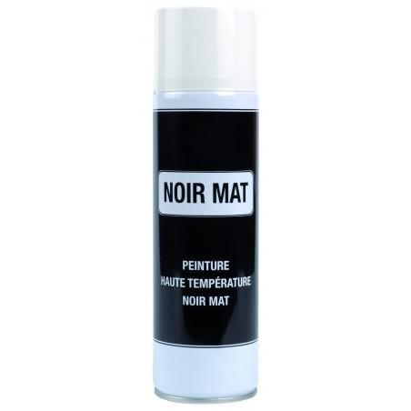Bombe peinture noire mat 500° C