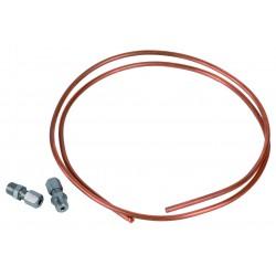 Kit tube cuivre et raccords D.4 / M1/8