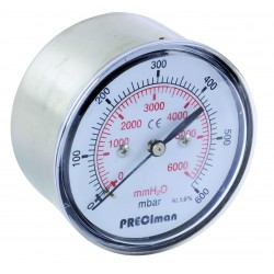 Manomètre inox axial D63 0/600mbar G1/4\'