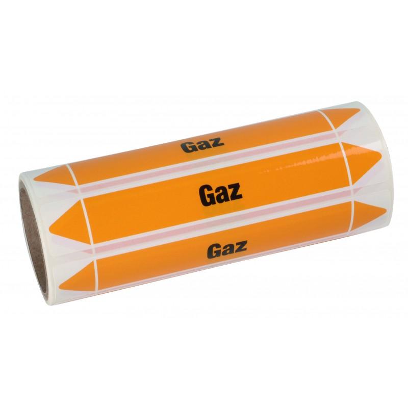 Rouleau de 100 étiquettes Gaz