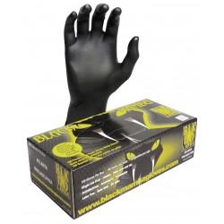 BLACKMAMBA - Boîte de 100 gants jetables nitrile noir L