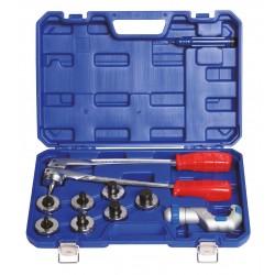 Evaseur de tubes en coffret plastique fourni avec pinces et têtes mesurée en millimètres
