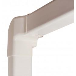 Angle vertical gauche 80 mm blanc pur