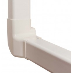 Angle vertical droit 80 mm blanc pur