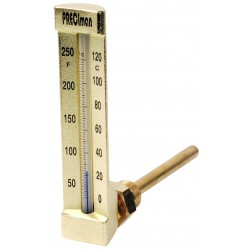 Thermomètre industriel équerre de 0/+50°C plongeur 63mm Hauteur 200mm