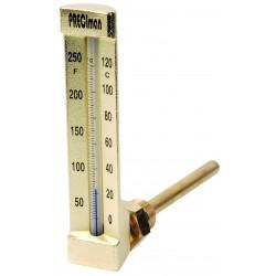 Thermomètre équerre 0/+120°C plongeur 100mm hauteur 150mm