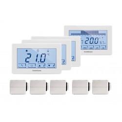 Kit thermostat RF WIFI 4 zones - 5 radiateurs