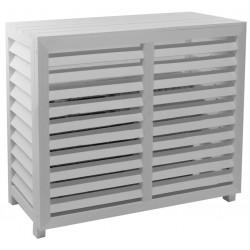 Cache climatisation Composite blanc L