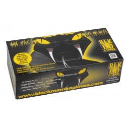 BLACKMAMBA - Boîte de 100 gants jetables nitrile noir S