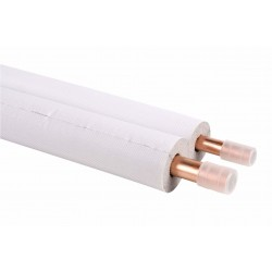 Tube cuivre double 1/2 - 3/4 pré-isolé M1