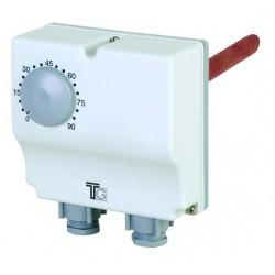 Aquastat plongeant double de 30° à 120° et 0 à 60° avec régl.interne et externe