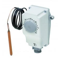 Aquastat avec capillaire de 0 à 90° avec réglage externe