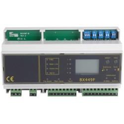 Centrale de détection gaz Rail Din 8 sondes