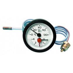 Thermomanomètre rond avec capillaire
