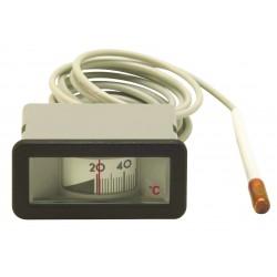 Thermomètre rectangulaire 64X31 de 0/120°C - L. 3000 mm
