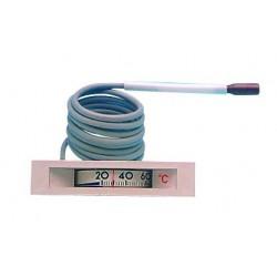 Thermomètre rectangulaire 68X14 de 0/120°C