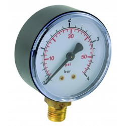 Manomètre ABS vertical D63 0/2,5bar G1/4'