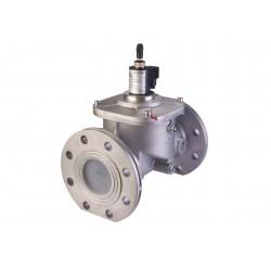 Electrovanne gaz à réarmement manuel NF Aluminium brides DN250 600mBar