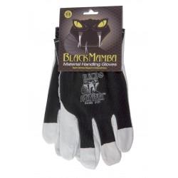 Paire gants cuir/coton XL