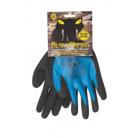 Paire gants nylon / nitrile étanche L
