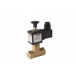 Electrovanne gaz à réarmement manuel NF laiton 3/4\' 600mBar