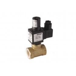 Electrovanne gaz à réarmement manuel NO laiton 1/2\' 6Bar