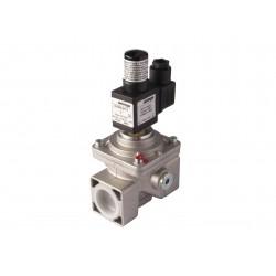 Electrovanne gaz à réarmement manuel NO Aluminium brides DN125 6Bar