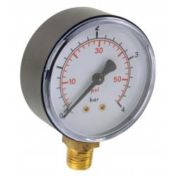 Manomètre ABS vertical D100 0/1,6bar G1/2\'
