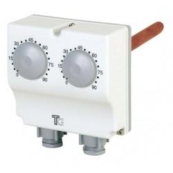 Aquastat plongeant double régl. ext.0-90°C - régl.ext.30-120°C