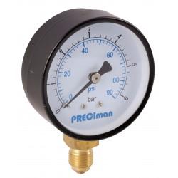 Manomètre acier vertical D63 0/40bar G1/4'