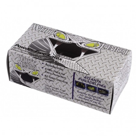 Boîte de 100 gants Blackmamba jetables latex XL