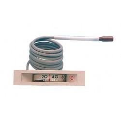 Thermomètre carré 0/120°C L1500