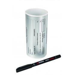 Rouleau de 50 étiquettes signalétique 70 x 130 mm