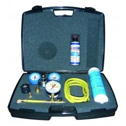Kit de pressurisation des installations avec azote muni d\'une bouteille d\'azote et d\'un détecteur de fuites spray