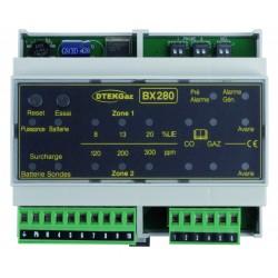 Centrale de détection gaz rail Din 2 sondes